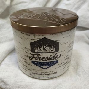 Bath and Body Works Fireside 3 Wick Candle